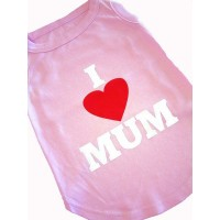 I Love Mum Dog T-Shirt